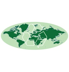 Earth map vector