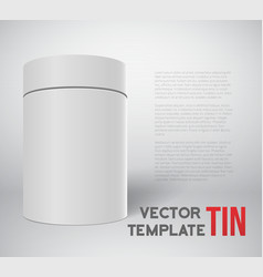 Realistic white tin can template isolated vector