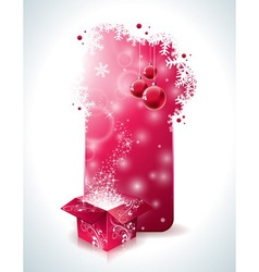 Christmas design with magic gift box vector