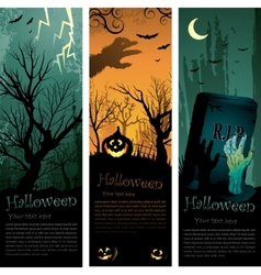 Halloweens vertical banners vector