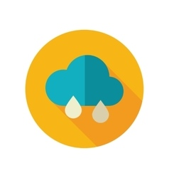 Rain cloud flat icon meteorology weather vector