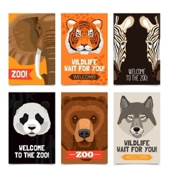 Animals mini posters set vector