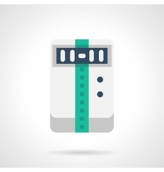 Portable air conditioner flat color icon vector