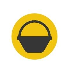 Basket silhouette icon vector