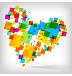 abstract heart colorful background vector image vector image