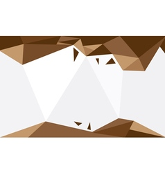 Background triangle brown vector