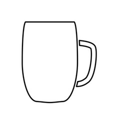 Beer mug black color icon vector