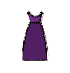 blurred colorful drawing of purple dress eighties vector image