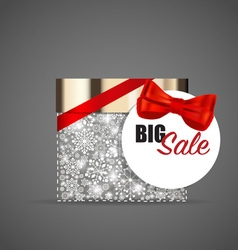 Christmas background with cosmetics packaging gift vector