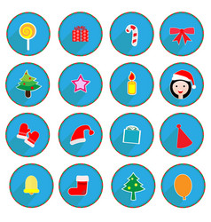 christmas design icons set vector image