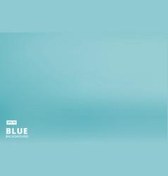 Empty gradient pastel blue studio room background vector