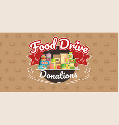 Food drive charity movement vector