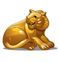 golden figure of tiger chinese horoscope symbol vector image