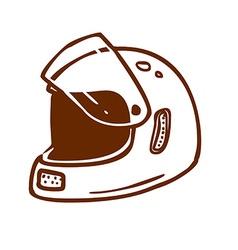 Hand Drawn Bikers Helmet vector image vector image