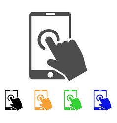 hand touch smartphone icon vector image vector image