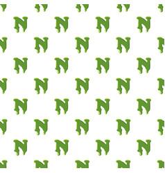 Letter n made of green slime vector