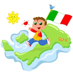 love for italy vector image vector image