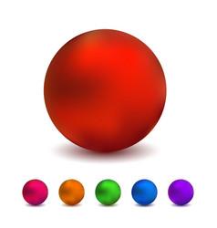 metallic sphere realistic vector image vector image