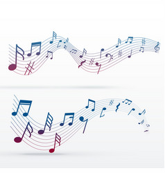 Music notes colorful background vector