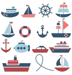 sea transport set vector image vector image