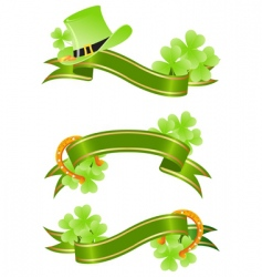 St Patrick's Day banner vector image vector image