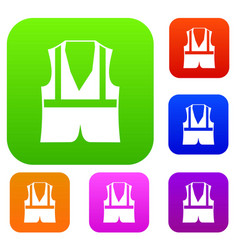 Vest set collection vector