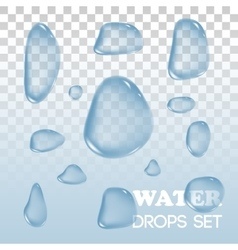 Water drops objects Rain on background vector image