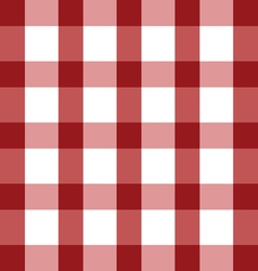 Tablecloth red in color cotton classic vector