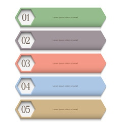 Creative design template in pastel colors vector