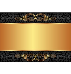 Black and gold background vector