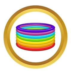 Rings in colours of lgbt icon vector
