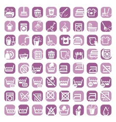 big color cleaning icons vector image