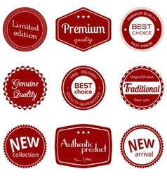 Business labels set vector