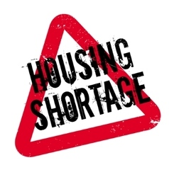 Housing shortage rubber stamp vector