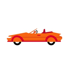 A sports car vector image
