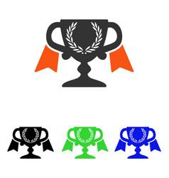 Award cup flat icon vector