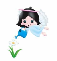 Garden angel vector