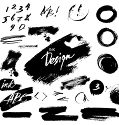 Grunge ink design elements vector
