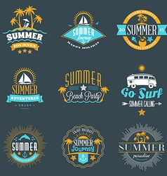 Summer holidays design elements set of hipster vector