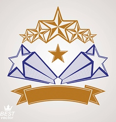 Detailed luxury 3d symbol monarch emblem vector