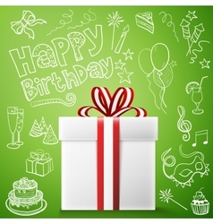 Happy birthday gift box vector