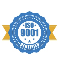 Iso 9001 certified - quality standard seal vector