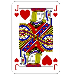 Poker playing card jack heart vector