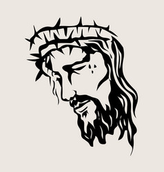 christ sketch drawing vector image