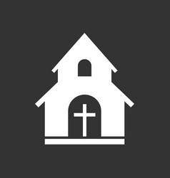 Church sanctuary icon simple flat pictogram for vector