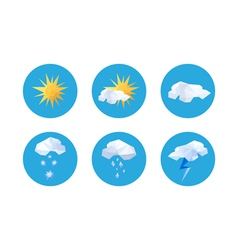 Collection of origami weather symbols vector image vector image