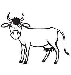 Cow contour vector