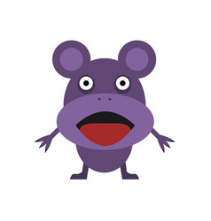 cute purple mouse vector image vector image