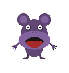 Cute purple mouse vector