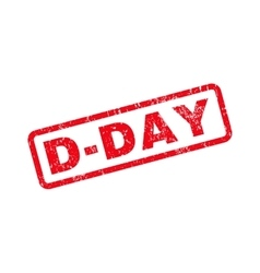 D-day text rubber stamp vector